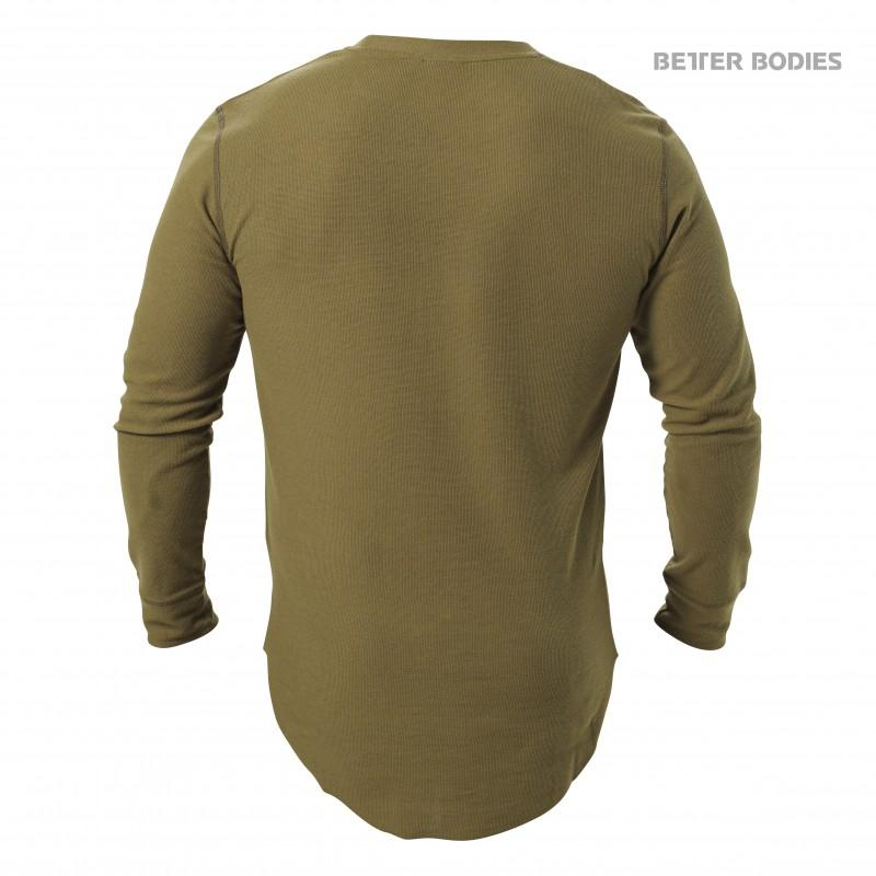 Better Bodies Harlem Thermal L-S - Military Green - Urban Gym Wear