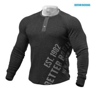 You added <b><u>Better Bodies L-S Henley - Antracite Melange</u></b> to your cart.