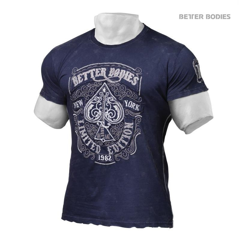 Better Bodies Limited Edition Tee - Washed Navy - Urban Gym Wear