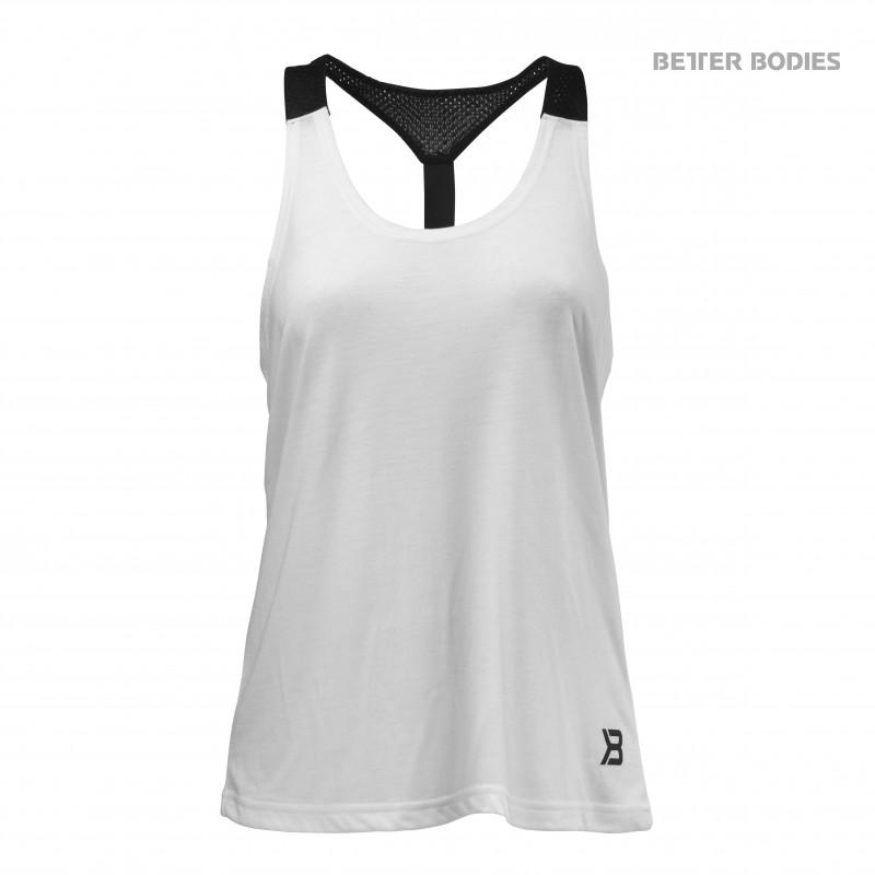Better Bodies Loose Fit Tank - White - Urban Gym Wear