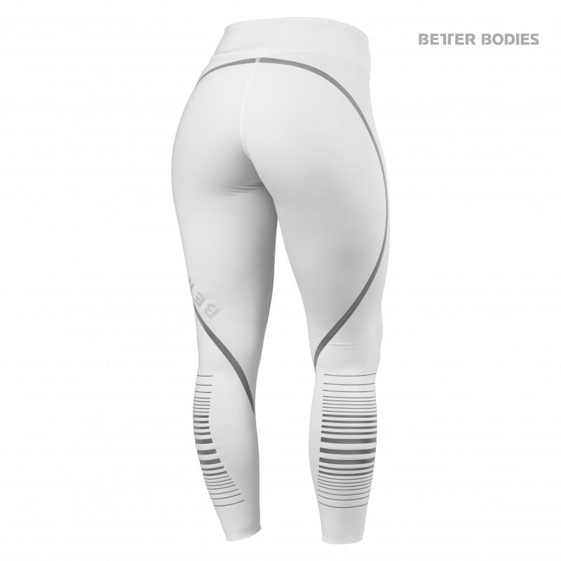 Better Bodies Madison Tights - White - Urban Gym Wear