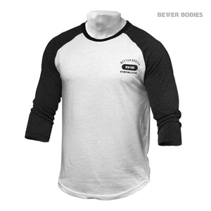 You added <b><u>Better Bodies Mens Baseball Tee - Anthracite Melange-White</u></b> to your cart.