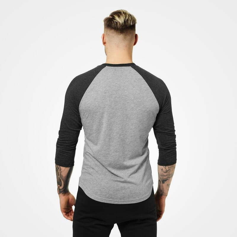 Better Bodies Mens Baseball Tee - Grey Melange-Antracite - Urban Gym Wear