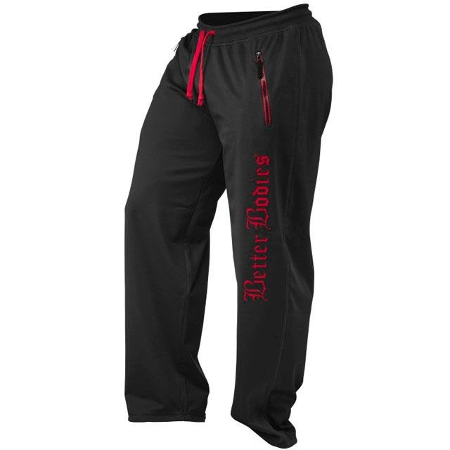 Better Bodies Men's Flex Pant - Black-Red - Urban Gym Wear