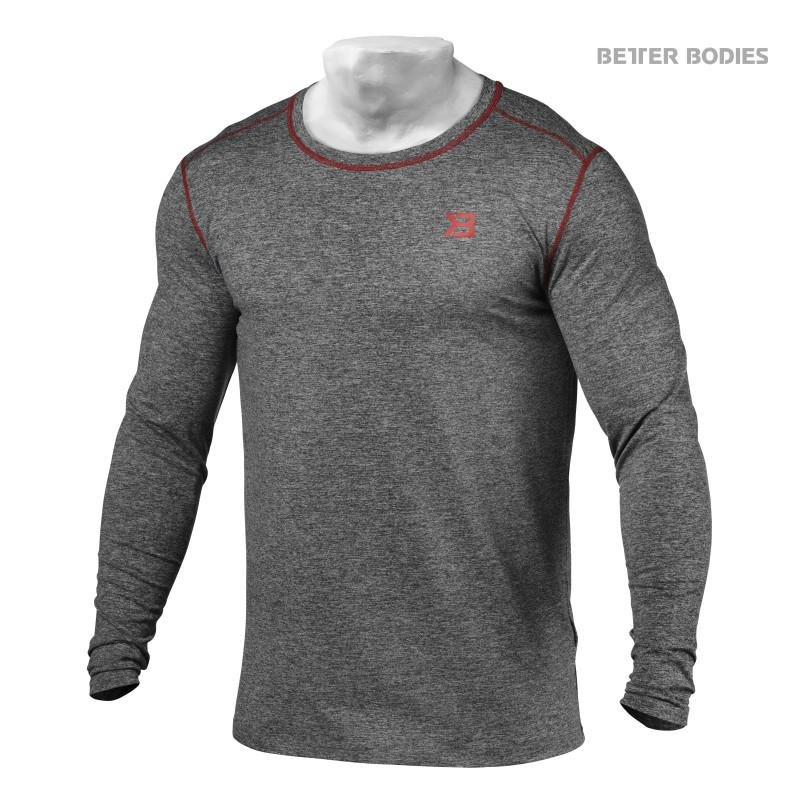 Better Bodies Performance Long Sleeve - Antracite Melange - Urban Gym Wear