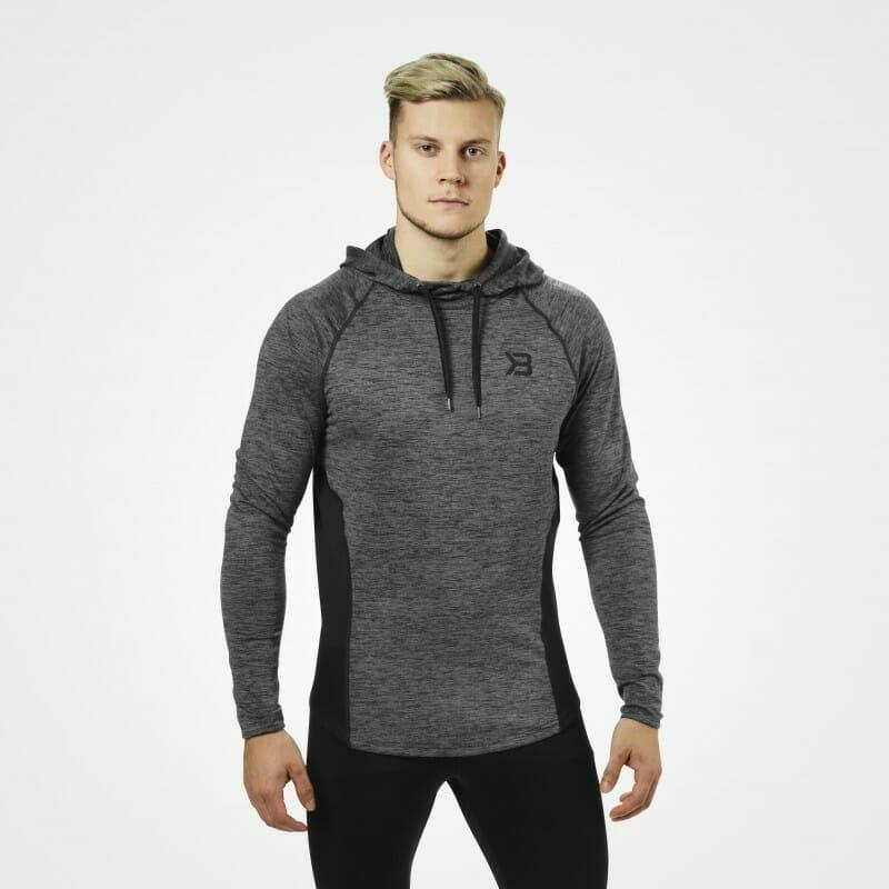 Better Bodies Performance Mid Hood - Graphite Melange - Urban Gym Wear