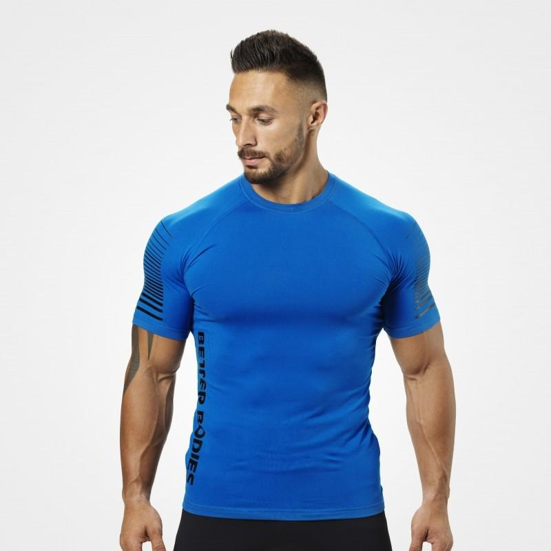 Better Bodies Performance PWR Tee - Strong Blue - Urban Gym Wear