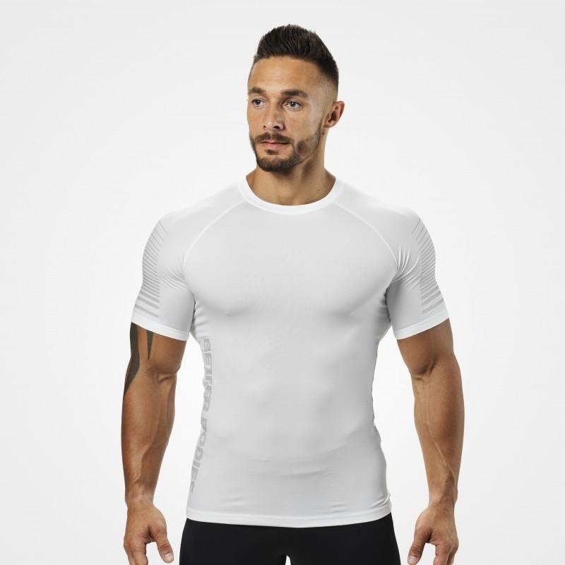 Better Bodies Performance PWR Tee - White - Urban Gym Wear
