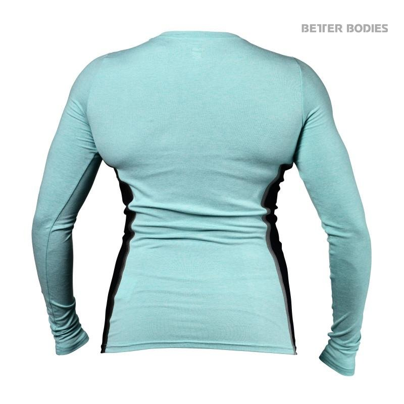 Better Bodies Performance Shape Long Sleeve - Light Aqua - Urban Gym Wear