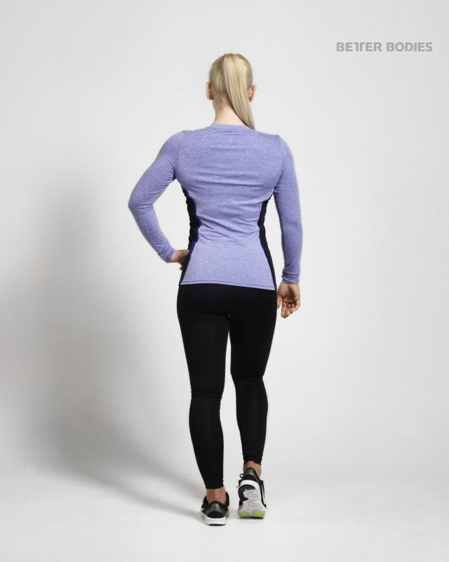 Better Bodies Performance Shape Long Sleeve - Purple Melange - Urban Gym Wear