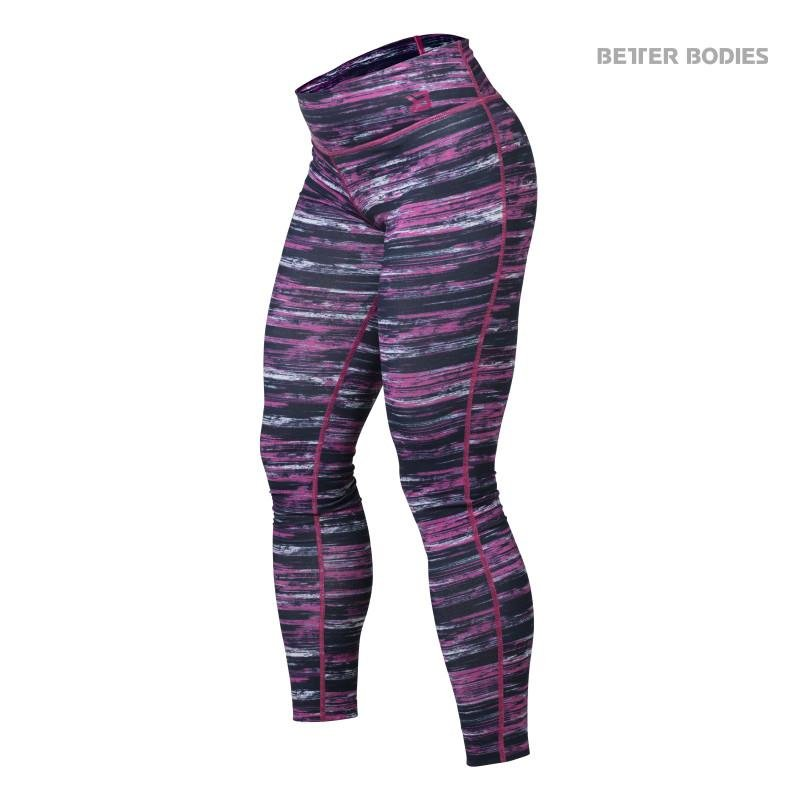 Better Bodies Printed Tights - Black-Pink - Urban Gym Wear