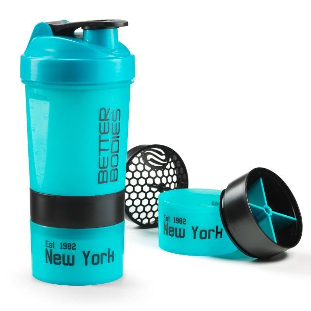 Better Bodies Pro Shaker - Aqua - Black - Urban Gym Wear