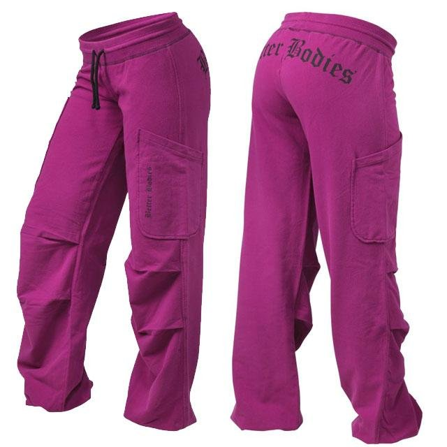 Better Bodies Soft Cargo Pant - Sangria - Urban Gym Wear