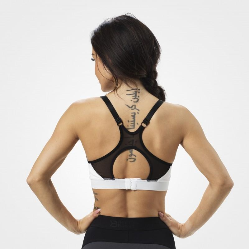 Better Bodies Sports Bra - White - Urban Gym Wear