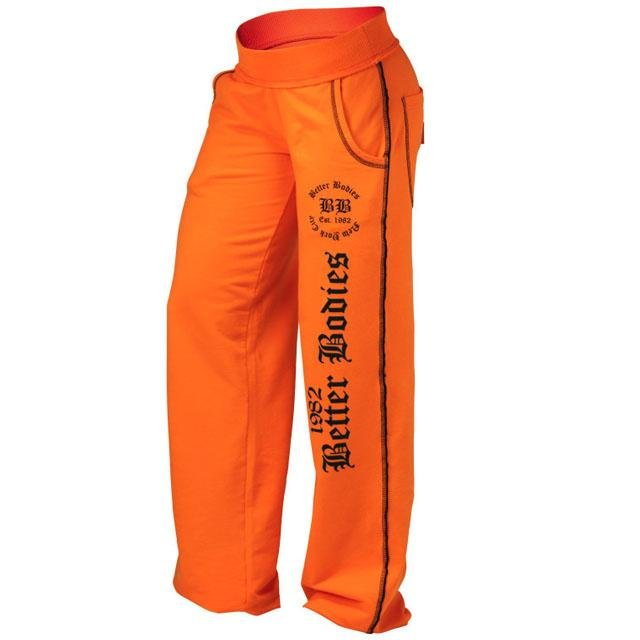 Better Bodies Stylish Soft Pant - Bright Orange - Urban Gym Wear