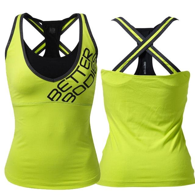 Better Bodies Support 2-Layer Top - Lime - Urban Gym Wear