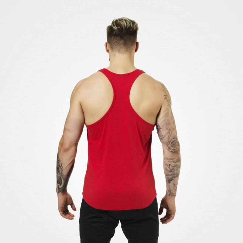 Better Bodies Symbol Printed T-Back - Bright Red - Urban Gym Wear
