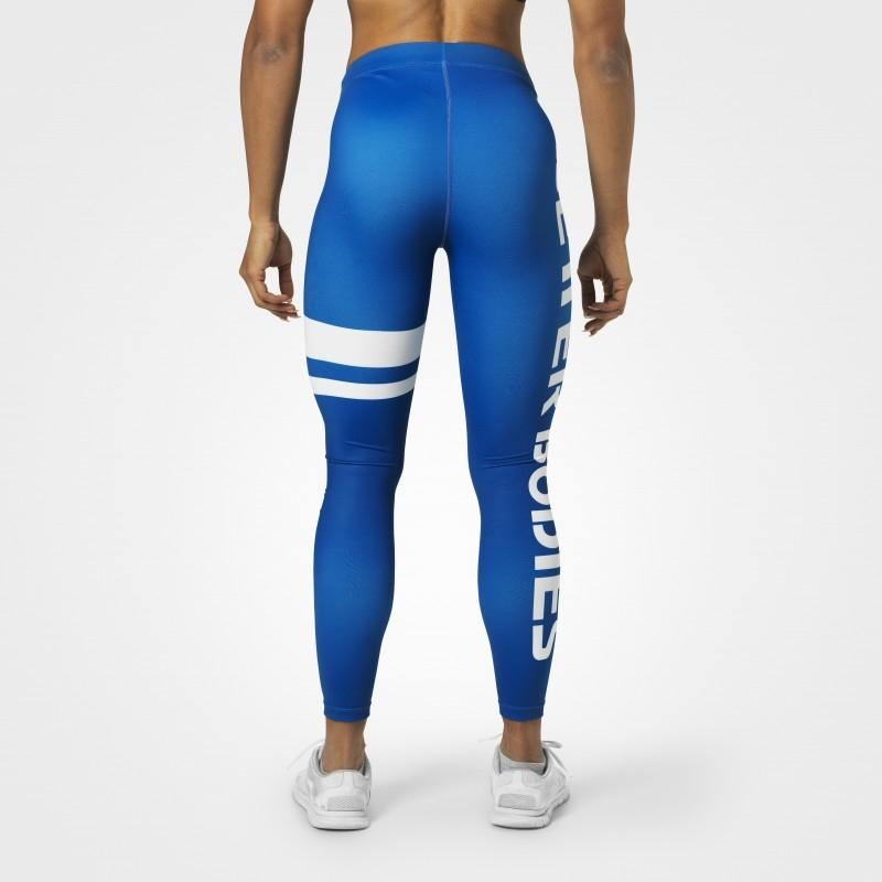 Better Bodies Varsity Stripe Tights - Strong Blue - Urban Gym Wear