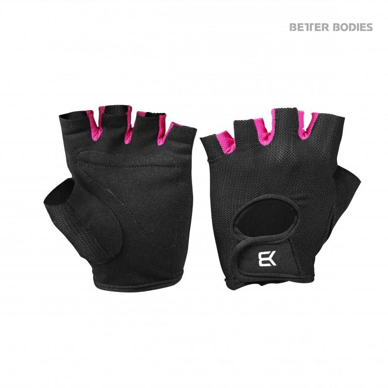Better Bodies Women's Training Glove - Black-Pink - Urban Gym Wear