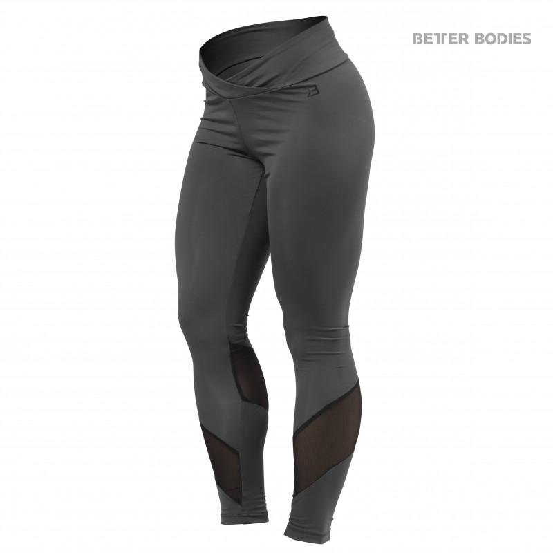 Better Bodies Wrap Tights - Dark Grey - Urban Gym Wear