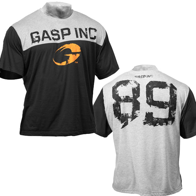 GASP Big - 2 Colour Tee - Black- Grey Melange