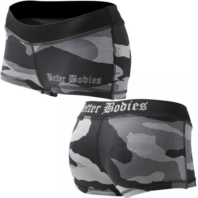 Better Bodies Camo Hotpants - Grey Camo