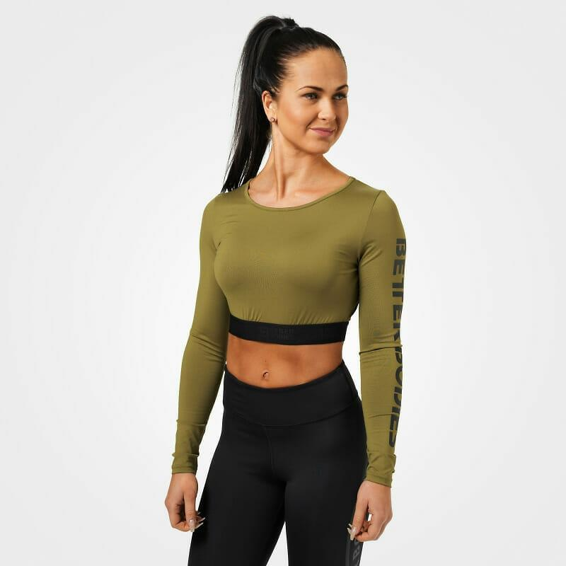 Better Bodies Chelsea Cropped L-S - Military Green