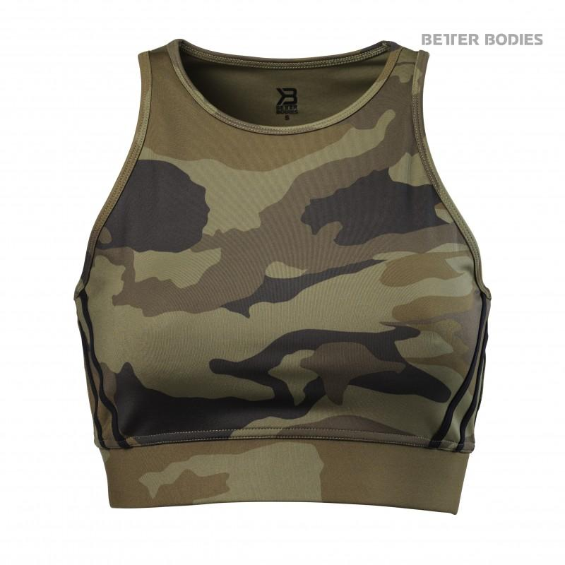 Better Bodies Chelsea Halter - Dark Green Camo