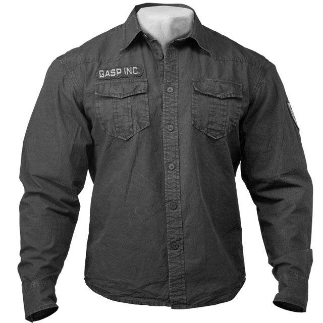 GASP Army Shirt - Black - Urban Gym Wear