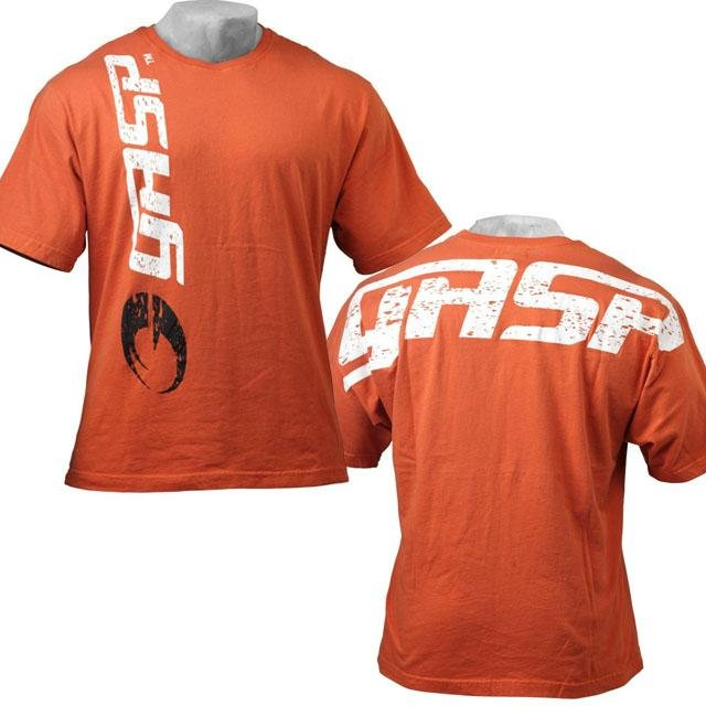 GASP Big Logo Tee - Flame - Urban Gym Wear