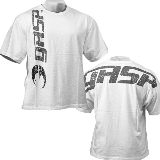 GASP Big Logo Tee - White - Urban Gym Wear