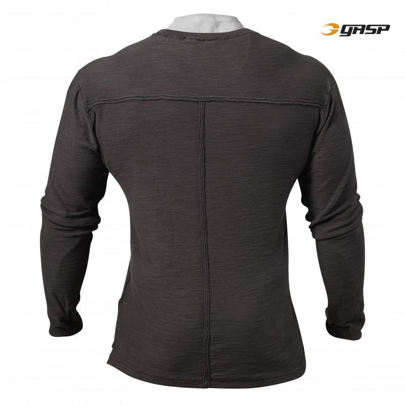 GASP Broad Street L-S - Dark Grey - Urban Gym Wear