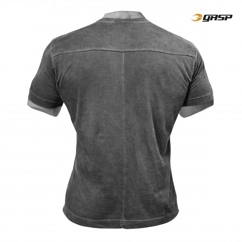 GASP Broad Street Print Tee - Wash Black - Urban Gym Wear