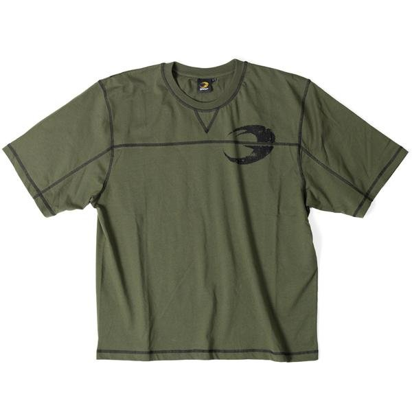 GASP Classic Big Tee - Khaki Green - Urban Gym Wear