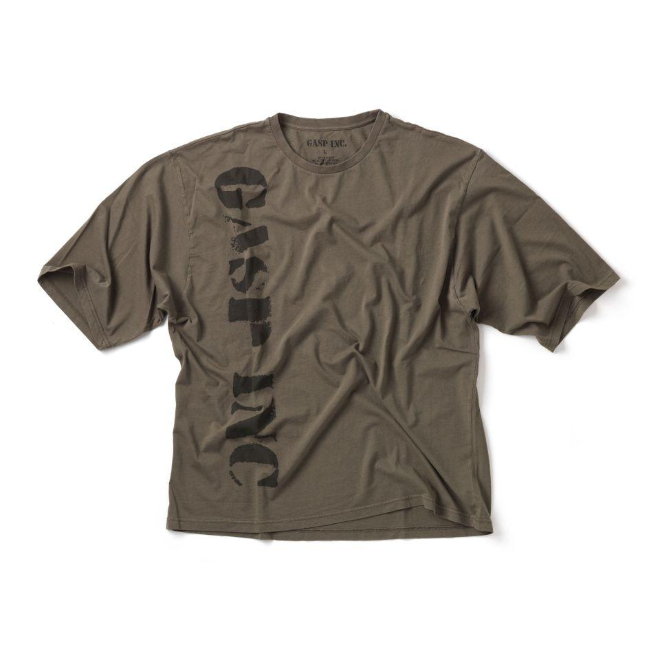 GASP Huge Tee - Washed Green - Urban Gym Wear