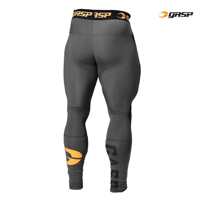 GASP Iron Tights - Grey - Urban Gym Wear