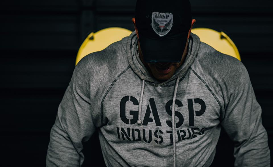 GASP Long Sleeve Thermal Hoodie - Greymelange - Urban Gym Wear