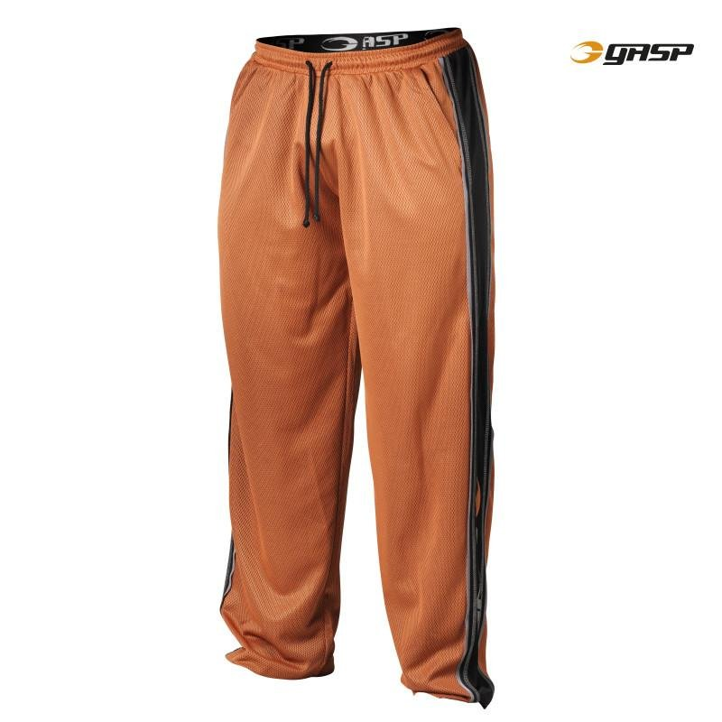 GASP Mesh Panel Pants - Flame - Urban Gym Wear
