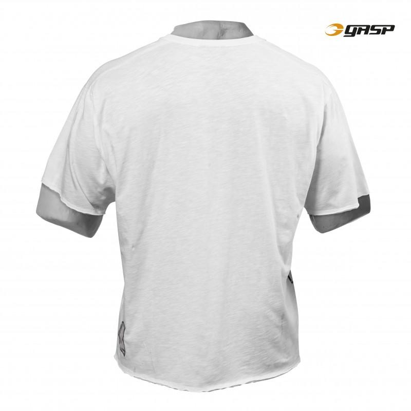 GASP No Compromise Tee - White - Urban Gym Wear