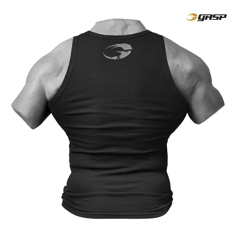 GASP Rigger Tank - Black - Urban Gym Wear