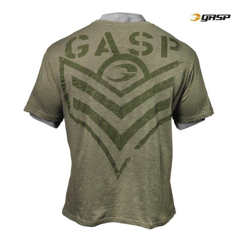 GASP Street Vintage Tee - Wash Green - Urban Gym Wear
