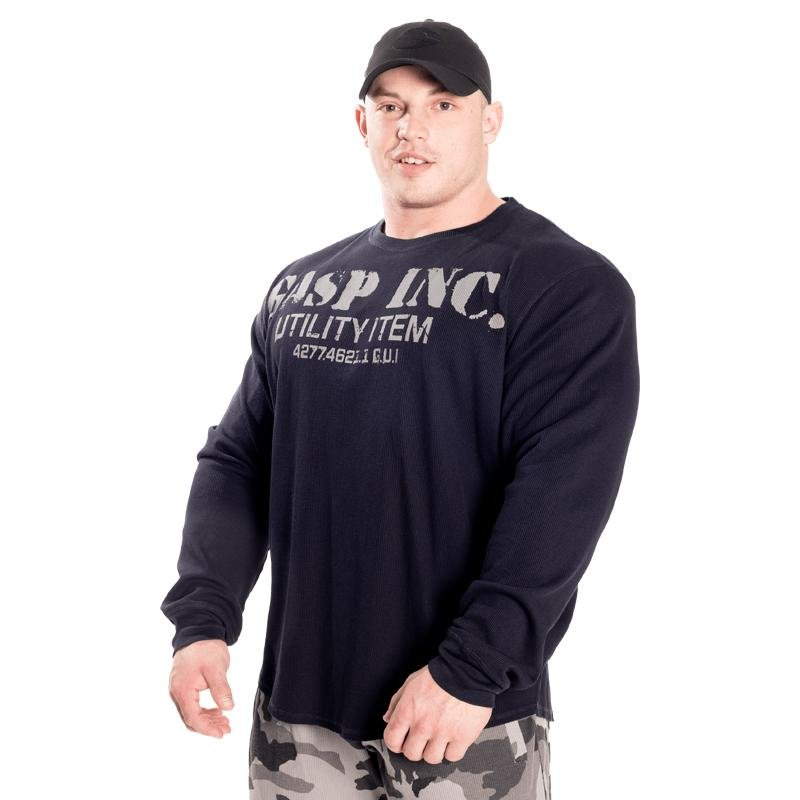 GASP Thermal Gym Sweater - Asphalt - Urban Gym Wear