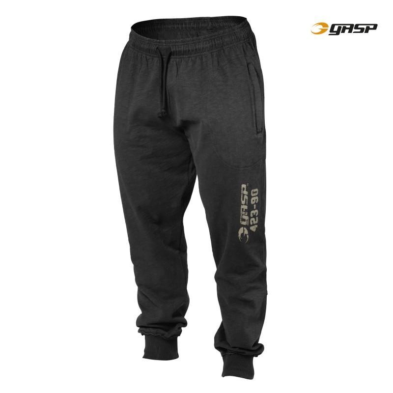GASP Throwback Sweatpants - Wash Black - Urban Gym Wear