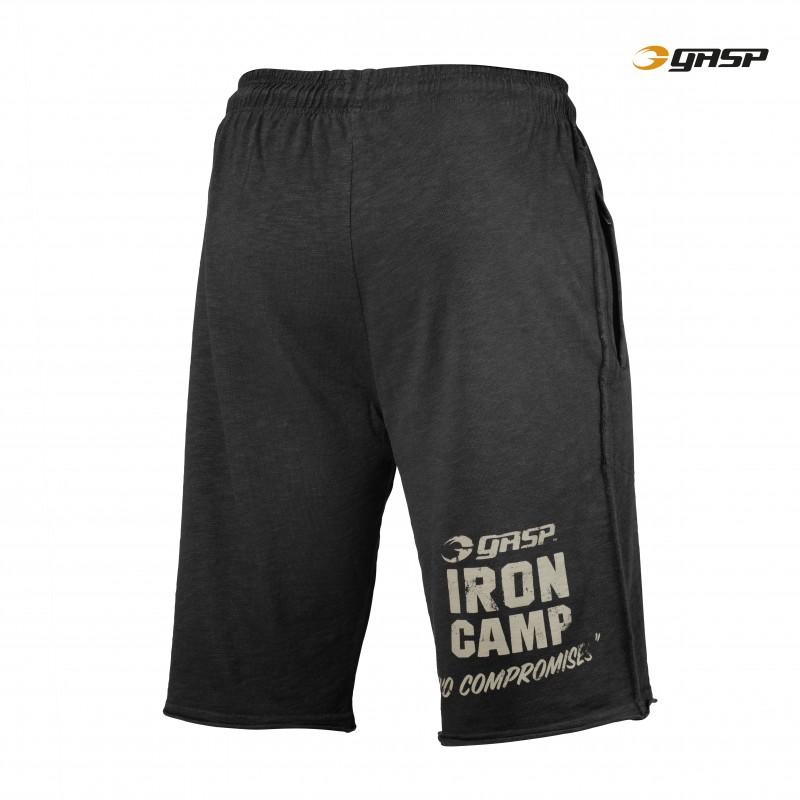 GASP Throwback Sweatshorts - Black - Urban Gym Wear