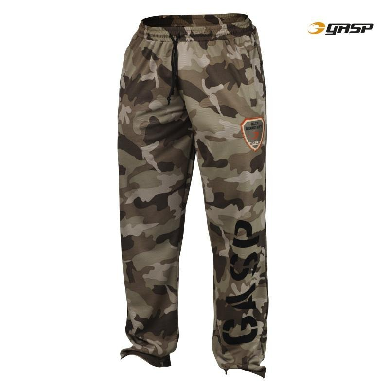 GASP Utility Mesh Pant - Green Camo - Urban Gym Wear