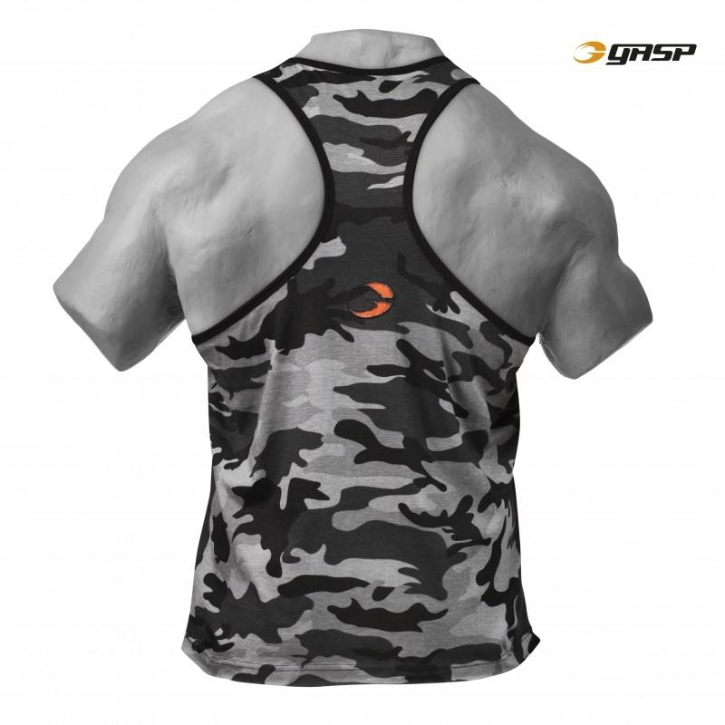GASP Vintage T-Back - Grey Camoprint - Urban Gym Wear