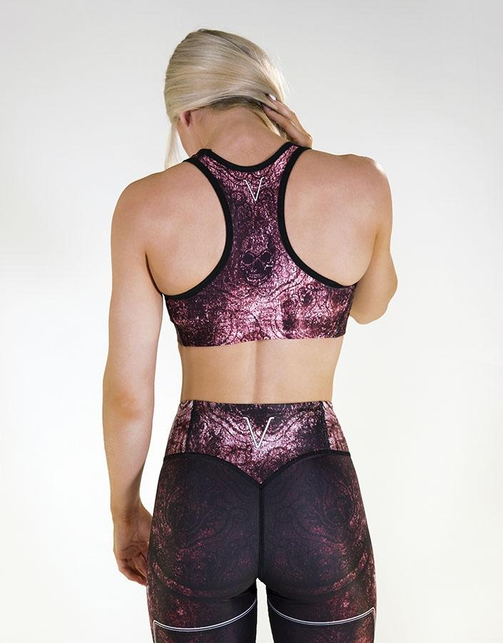 Gavelo Eclipse Tawny Port Red Sports Bra - Urban Gym Wear