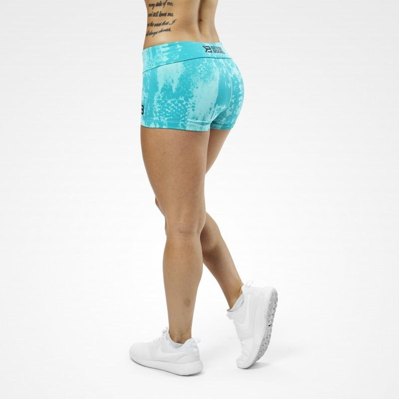 Better Bodies Gracie Hotpants - Aqua Print