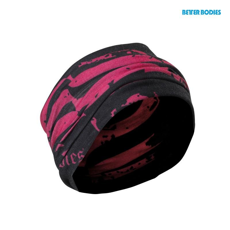 Better Bodies Head Wrap - Black-Pink