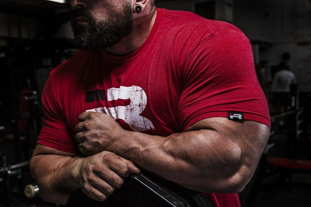 Iron Rebel Forged Tee - Red - Urban Gym Wear